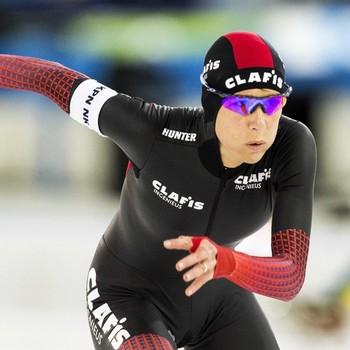 Carien Kleibeuker in actie op de 5000 meter tijdens het NK Afstanden © ANP