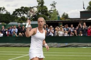 Kiki Bertens hoopt na haar indrukwekkende prestaties op Roland Garros ook hoge ogen te gooien op Wimbledon. © Hollandse Hoogte